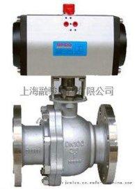 上海阀门厂Q641F气动浮动式法兰球阀
