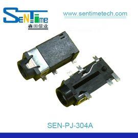 3.5耳机插座6PIN贴片单柱PJ304A