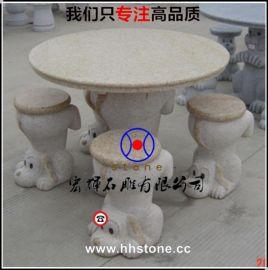 厂家直供好品质石雕圆桌/花岗岩桌子批发