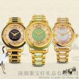 珠寶禮品定制之翡翠玉石十二生肖款防水手表機械表全自動男女款時尚腕表
