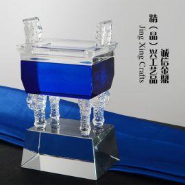 水晶鼎工藝品辦公擺件商務喬遷新居開業禮品家居裝飾品