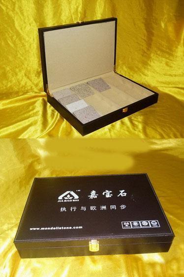 石英石色卡皮盒皮包木盒
