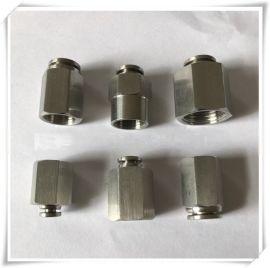 不锈钢304 PCF内螺纹丝牙 直通空气软管 气动快插 快速接头 厂家