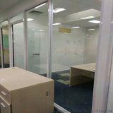办公室用双层钢化玻璃百叶隔断墙隔间玻璃隔断墙高隔断