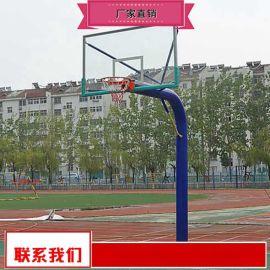 钢化玻璃篮板篮球架价格公道 学校标准篮球架厂家