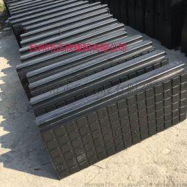 铁路橡胶嵌丝道口板 轨道车库轮缘槽橡胶板