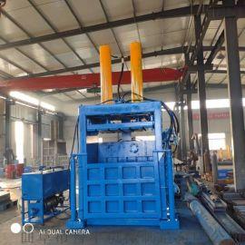 开平稻草立式液压打包机 废铁皮液压压块机厂