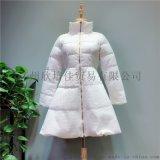18年冬裝輕薄羽絨服廣州貝左品牌折扣女裝走份尾貨