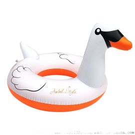 白天鹅加厚PVC泳游坐骑成人动物坐骑泳圈