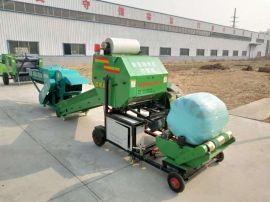 青储玉米秸秆打捆机,秸秆青贮全自动液压打包机