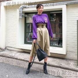 DZK  恋白品牌雪纺连衣裙批发 品牌货源 昆明品牌折扣女装批发