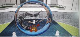 户外艺术水景镜面不锈钢圆形浪花雕塑厂家定制