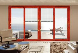 定制豪华铝合金门窗120系列阳台重型推拉门