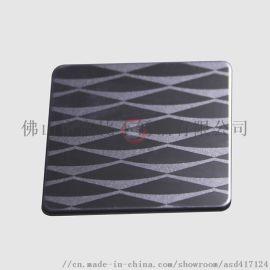 不锈钢蚀刻板价格 镜面局部喷砂蚀刻黑钛不锈钢电梯板