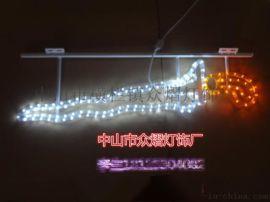 戶外發光LED玫瑰花地插燈 燈光節地插燈花海
