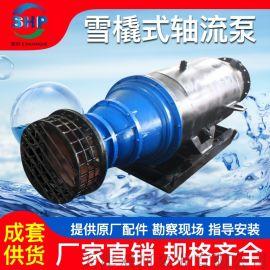 雪橇式轴流泵-雪橇式潜水轴流泵-卧式潜水轴流泵