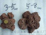 永顺供应3-5 5-8公分红色火山石