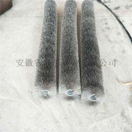 工业毛滚刷尼龙丝弹簧刷弹簧刷辊 钢丝弹簧刷