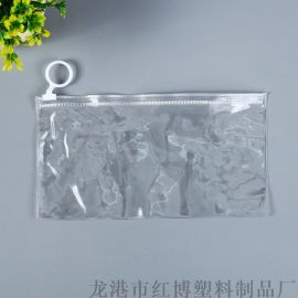 厂家批发韩版学习文具收纳袋自封拉链笔袋PVC拉边袋