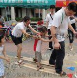 户外亲子木质协力竞走趣味运动会器材/3人协力竞走比赛项目