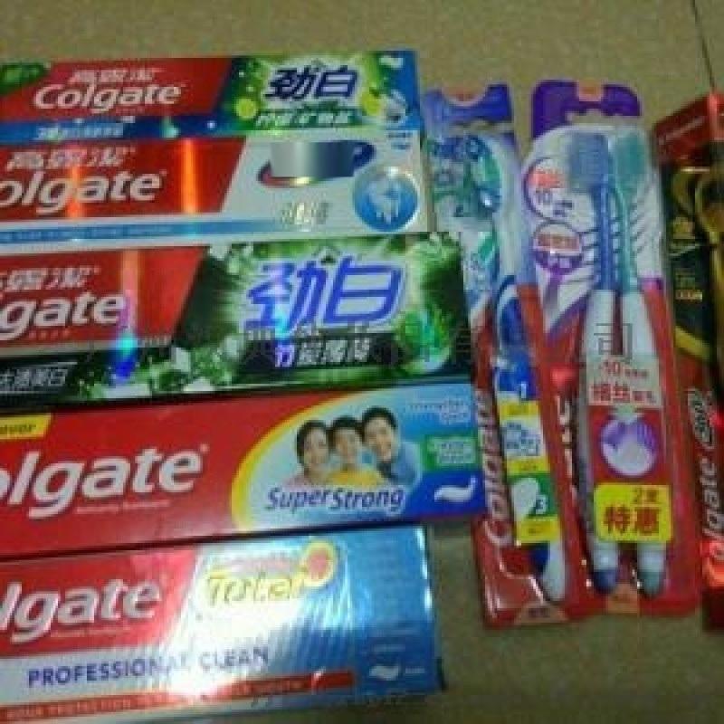 牙膏加工廠家 可定製英文版高露潔牙膏OEM貼牌