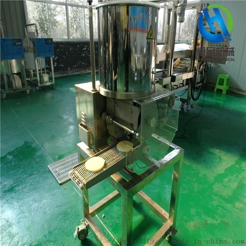 小型鱼肉饼成型机 专业定制鱼肉饼成型设备