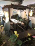 桂满陇船宴木船仿古餐饮船水上装饰景观船乌篷船道具