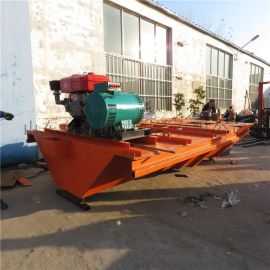 农田灌溉大型渠道成型机 现浇渠道衬砌机