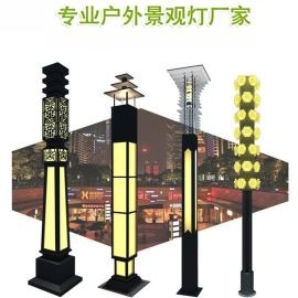AE照明AE-JGD-01 公园景观灯LED景观灯方形中式公园风景区景观灯3米不锈钢造型景观灯公园灯厂