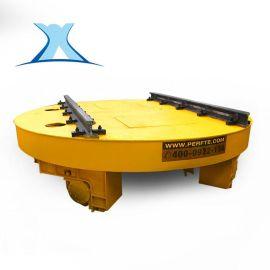 百特智能生产定制甘肃天水轮对转盘 自动对轨工业电动转盘