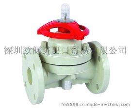 进口塑料隔膜阀的原理与参数及厂家