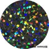 供应太阳形状金葱粉金葱片6MM 闪光亮片 玻璃装饰专用闪粉