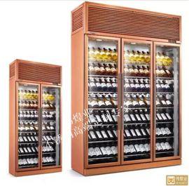 玫瑰金拉丝不锈钢恒温酒柜-不锈钢红酒柜
