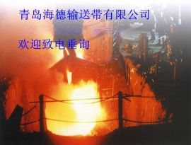 耐高温钢网芯输送带 耐热钢丝网橡胶带 耐灼烧钢网芯输送带