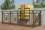 高端定制古铜色加花镀锌钢阳台护栏围栏喷塑护栏露台围栏楼顶栅栏