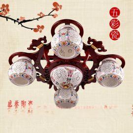 陶瓷礼品台灯价格 陶瓷装饰灯具定做批发