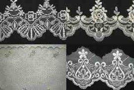 婚纱布条花刺绣