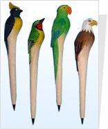 鸟类木头工艺笔