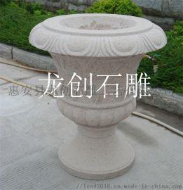 园林景观石雕花钵 定制青石石雕花钵生产厂
