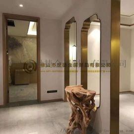 304装饰线条不锈钢弧形门套 电梯不锈钢门套门框