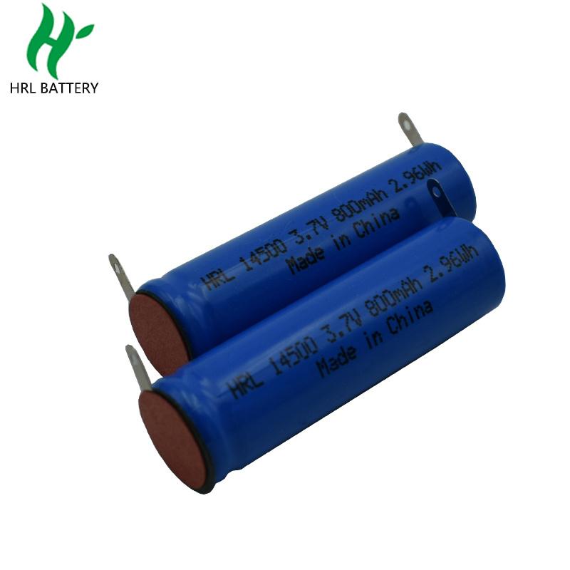 14500 800mah 3.7V 美容儀圓柱電池