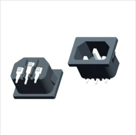C14品字尾AC插座,打印机电源插座