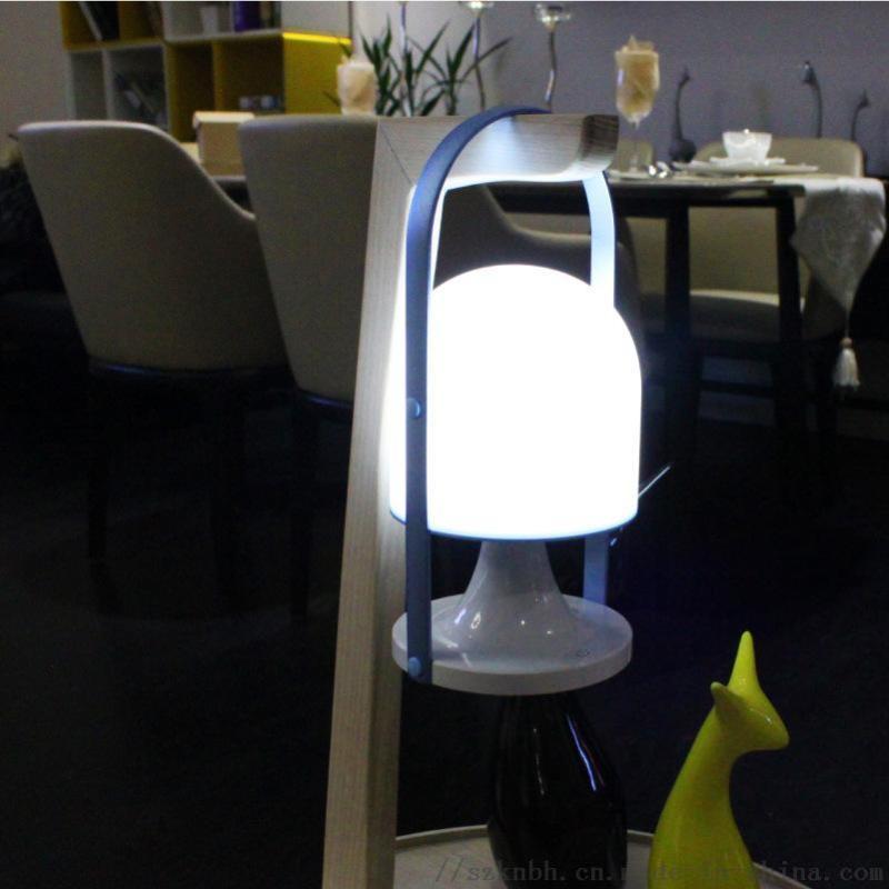 时尚风手提户外灯充电触摸调光防水led台灯