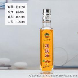 八角油瓶750ml玻璃山茶油瓶