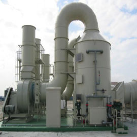 工业废气处理成套设备-喷淋塔 脱硫环保设备定制