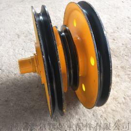 起重机吊钩提升滑轮  耐磨耐用轧制滑轮组