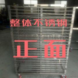 苏州太仓304不锈钢货架金属网推车带轮子重型工作台