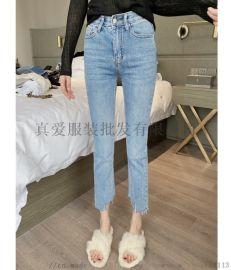 女式牛仔短裤杂款尾货 库存处理女装牛仔裤地摊货源