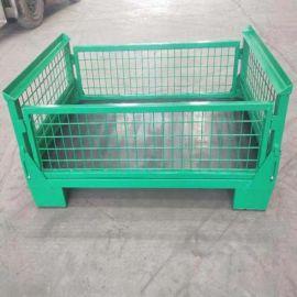 折叠铁笼 欧式折叠金属周转箱 铁筐