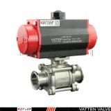 VT304不锈钢气动卡箍球阀
